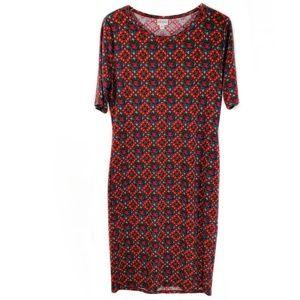 Lularoe Simply Comfortable Multi-Color Dress Sz XL